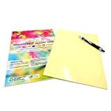 5, A3 2AINTIMO Carta Adesiva Bianca PVC Lucida in Vinile per stampanti Laser Fogli Adesivi Impermeabile