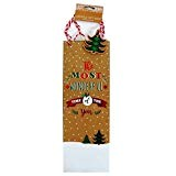 Christmas Bottle Gift Bags–most Wonderful Time of the year–Confezione da 2