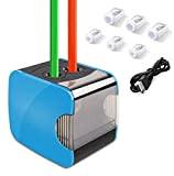 EU Spina Alimentatore Affilatura Precisa Veloce Matita per Temperino Matite Colorate 4*AA Batteria Temperamatite Elettrico Automatica per Ufficio Scuola Matite Sopracciglia